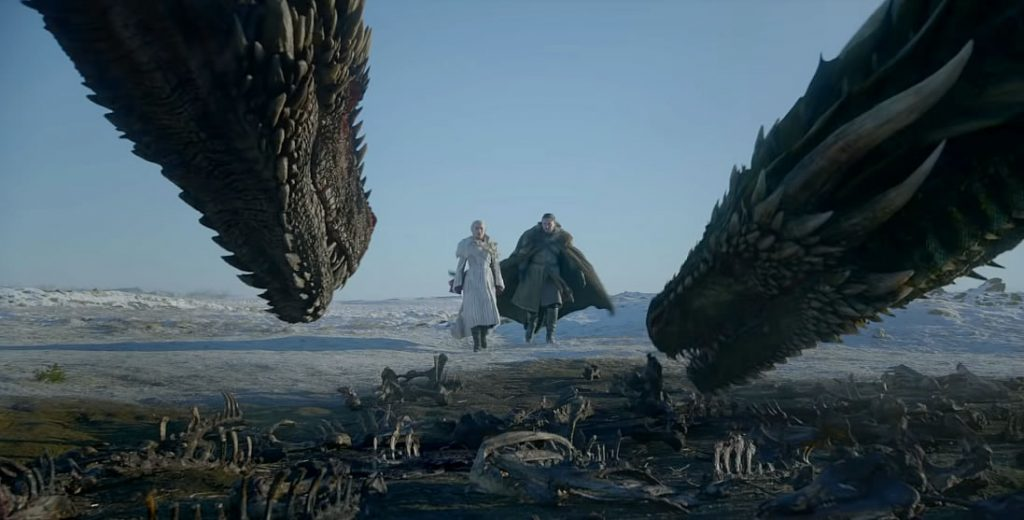 Daenerys e Jon Snow + Dragons!