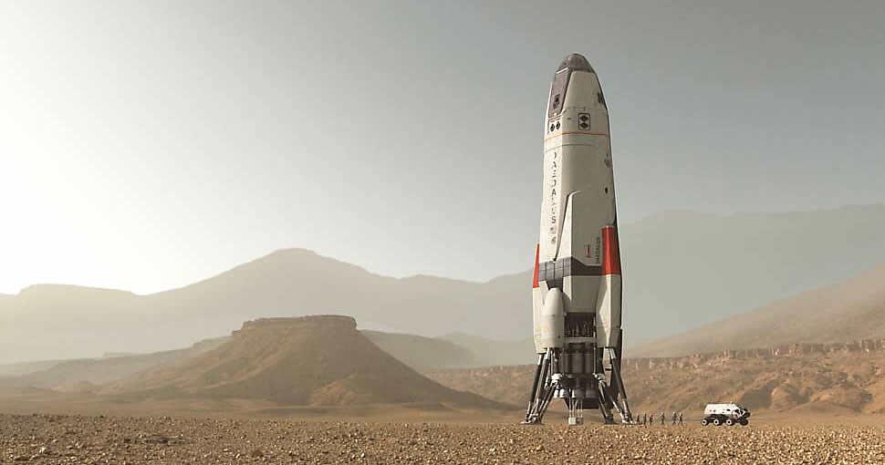 Espaçonave Daedalus na série Marte