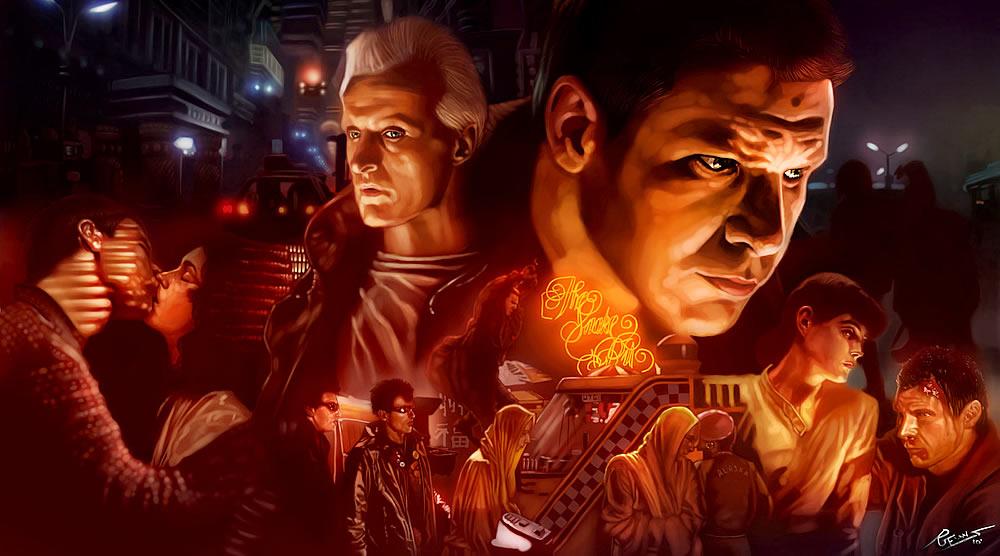 Pintura Blade Runner