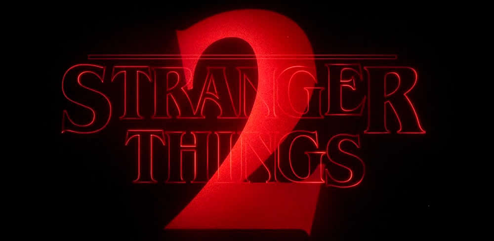 Stranger Things 2 logo intro