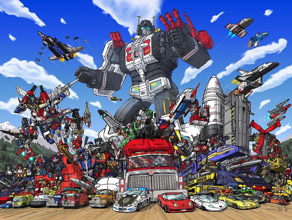 Desenho animado anos 80 Transformers