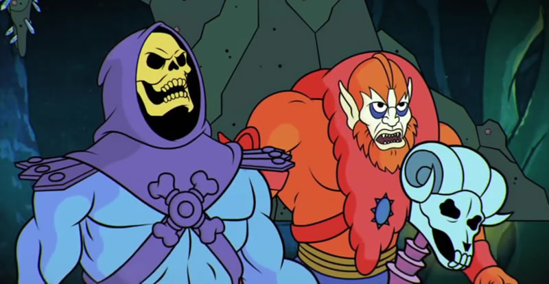 Esqueleto e Homem Fera, inimigos de He-Man