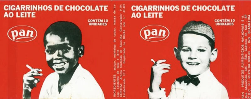Embalagem do Cigarrinho de Chocolate ao Leite da Pan