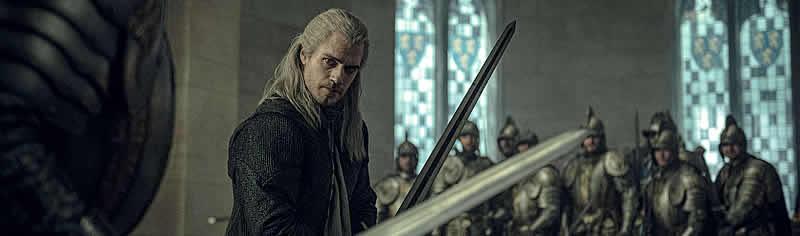 Henry Cavill como Geralt de Rivia em The Witcher