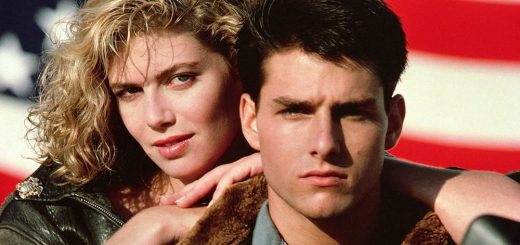Tom Cruise e Kelly McGillis em Top Gun, Ases Indomáveis